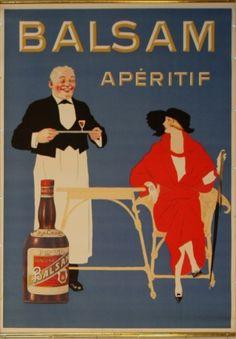 Balsam Aperitif, 1920s - original vintage poster listed on AntikBar.co.uk