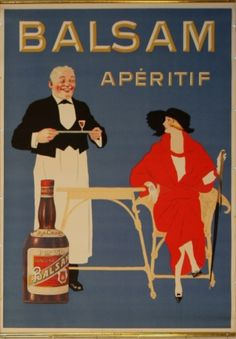 Balsam Aperitif, 1920s - original vintage poster listed on AntikBar.co.uk