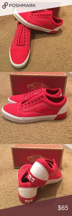 fd6ba561be Old Skool Blocked DX Vans New in box. True White Racing Red Vans Shoes