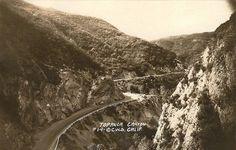 SANTA MONICA MOUNTAINS   TOPANGA:  Topanga Canyon, 1922 POSTCARD