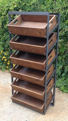 Retail display unit vintage industrial tote shelving freestanding or wallmounted in Home, Furniture & DIY, Furniture, Bookcases, Shelving & Storage Vintage Industrial Furniture, Industrial Interiors, Industrial Shelving, Industrial House, Industrial Lighting, Industrial Farmhouse, Industrial Decorating, Industrial Restaurant, Kitchen Industrial
