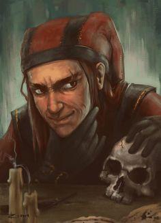 m Rogue Arcane Trickster Leather skull TES Skyrim Cicero by ZVilka on deviantART Elder Scrolls Lore, Elder Scrolls Games, Elder Scrolls Skyrim, Cicero Skyrim, Tes Skyrim, Skyrim Werewolf, Skyrim Fanart, Skyrim Wallpaper, Arcane Trickster