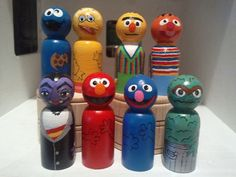 """Choice of """"ONE"""" of the  inspired Characters, wooden peg people"""