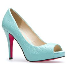 These are my favorites! #mint #pump #peep-toe