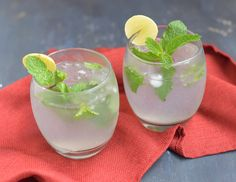 (Sub xylitol for sugar) Toast the New Year with a Virgin Mint Julep -- and get one step closer to a refreshed, healthy mind and body in the coming year!