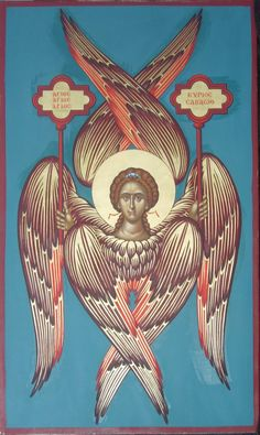 Six wings, Seraphim by logIcon on DeviantArt Christian Drawings, Christian Symbols, Byzantine Icons, Byzantine Art, Order Of Angels, Seraph Angel, Seraphin, Medieval Paintings, Spiritual Symbols