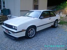 White 1986 Chevy Cavalier Z24 - My 2nd car.