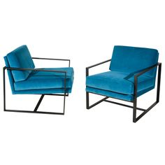 1stdibs | Pair Of Arm Chairs, LAwson Fenning black arms