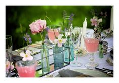 Spring colours and inspirations for weddings Spring Colors, Spring Wedding, Color Inspiration, Wedding Venues, Glass Vase, Colours, Weddings, Table Decorations, Pretty