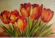 As tulipas vermelhas. 2011. Óleo sobre tela. Dorimar Carvalho Moraes.