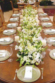 Decoração de casamento em verde e branco na Locanda della Mimosa - Constance Zahn | Casamentos
