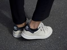 adidas / stan smith / chalk white & black leather #shoes #accessories #style