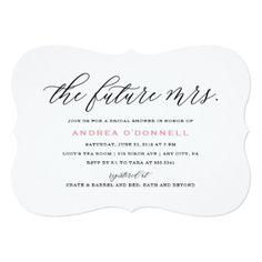 #bachelorette #party #invitations - #Future Mrs. Bridal Shower Invitation
