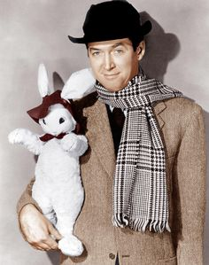 Obviously a play on the character he played where he saw a 6ft rabbit that no one else could see....remember that one?