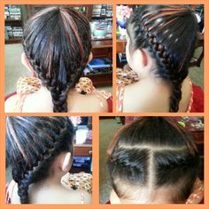 I love this type of braiding, my niece loves it when I braid her hair.