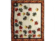 leaf quilt | Autumn Leaves Quilt -- great skillfully made Amish Quilts from ...