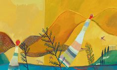 Dédale et Icare - Milan Jeunesse - author : Christine Palluy - 2007 - next picture Art Story, Book Illustration, Childrens Books, Folk Art, Concept Art, Naive, Drawings, Milan, Artist