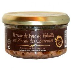 Terrine de foie de volaille au Pineau 120 gr - recette savoureuse parfumée pineau - 2.51€