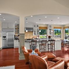 Open Up Kitchen To Living Room Could Use Columns Like This For Load If Need Be On Kitchen