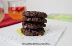 Tečkované sušenky (bez lepku, mléka, vajec) Cookies, Chocolate, Desserts, Food, Crack Crackers, Tailgate Desserts, Deserts, Biscuits, Essen