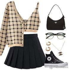 Kpop Fashion Outfits, Stage Outfits, Edgy Outfits, Mode Outfits, Retro Outfits, Cute Casual Outfits, Girl Outfits, Outfits For Teens, Polyvore Outfits Casual