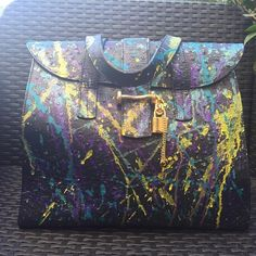 BORSA PELLE CUSTOMIZER Bag Purse Lether struzzo Made in Italy mano in Abbigliamento e accessori, Donna: borse | eBay