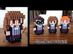 3D Hermione in Perler Beads!
