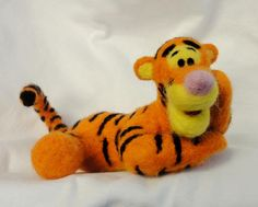 Tiger Character Needle Felted