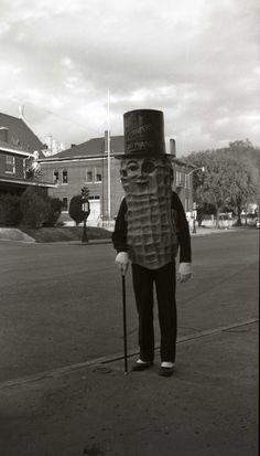 Mr. Peanut, 1953. Kansas City, Missouri USA.
