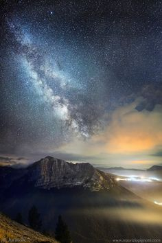 The Milky Way over Sibillini Mountain National Park Italy. Photo by Maurizio Pignotti.
