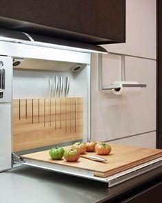 Ideia para a marcenaria da cozinha. Projeto via @bulthaupka  #referencia #ideiasdiferentes #praticidade