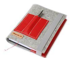 Kalender-Buchhülle·☆·Filz&Leder·☆·Roja von Chiquita Jo ♥  auf DaWanda.com