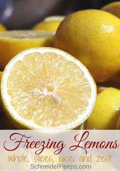 Freezing lemons is the easiet way to preserve lemons for the year. Learn how to … Sponsored Sponsored Freezing lemons is the easiet way to preserve lemons for the year. Learn how to freeze lemons whole, slices, juice, and zest… Continue Reading → Freezing Lemons, Freezing Fruit, Freezing Vegetables, Can You Freeze Lemons, Frozen Vegetables, Meyer Lemon Recipes, Lemon Uses, Lemon Benefits, Water Benefits