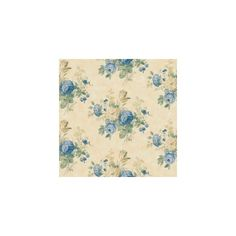 The Wallpaper Company 20.5 In. W Blue and Yellow Victorian Floral... ($250) ❤ liked on Polyvore
