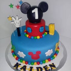 #mickeymouse #mickeymouseclubhouse #cake #dlish Mickey Mouse Clubhouse, Birthday Cakes, Unisex, Desserts, Food, Meal, Anniversary Cakes, Deserts, Essen
