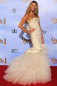 Elle Macpherson by Zac Posen - Golden Globe Awards 2012