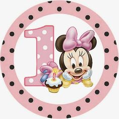 First Year of Minnie with Polka Dots: Free Printable Candy Bar Labels.