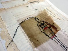 mixed media embroidery - Google Search