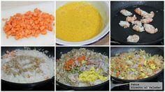 Arroz chino tres delicias, no querrás comer nada más que esto. Kfc, Chinese Food, Salad Recipes, Grains, Cooking Recipes, Pasta, Meals, Breakfast, Estilo Hipster