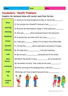 Vocabulary: Health Problems 2