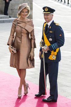 HM Queen Mathilde of Belgium & husband