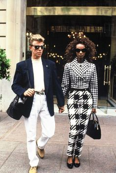 David & Iman- Aren't they just fab?! Die hard David Bowie fan.