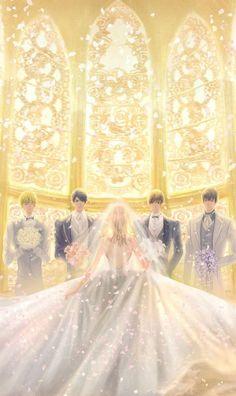 Anime Love Story, Anime Love Couple, Manga Love, Anime Couples Drawings, Anime Couples Manga, Cover Wattpad, Desenhos Love, Anime Wedding, Cute Anime Coupes