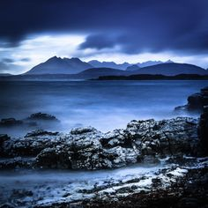 Limited Edition - extra large art - Scottish Photography - Moody Blue Landscape Photography - Giclee Fine Art Print
