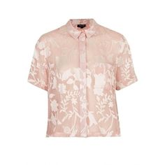 Beyoncé Was Wearing Topshop Pink Crinkle Flowers Shirt $40 ...