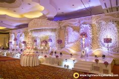 Ferdian and Sisca's Wedding Reception; Venue at The Ritz-Carlton Kuningan, Jakarta; Decoration by Grasida Decoration; Lighting by Lightworks