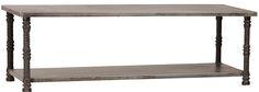 AF107 Paris coffee table, Steel top w cast iron legs, 53x27