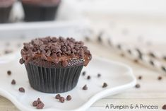 Triple Chocolate Cupcakes with Ganache Frosting