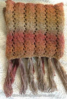 ABC Knitting Patterns - Chevron Lace Scarf .