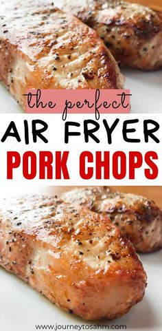 How to cook the best boneless air fryer pork chops. Easily topped with gravy and. - How to cook the best boneless air fryer pork chops. Easily topped with gravy and pairs perfectly wi - Air Fry Pork Chops, Cooking Pork Chops, Fried Pork Chops, Cooking Steak, Air Fryer Recipes Breakfast, Air Fryer Oven Recipes, Air Fryer Dinner Recipes, Air Fryer Recipes For Pork Chops, Air Fryer Recipes Potatoes